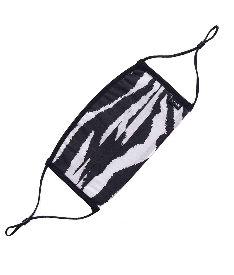 zebra printed cotton face masks