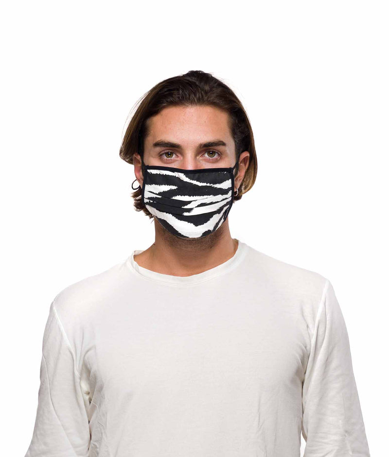 zebra printed cotton masks for men