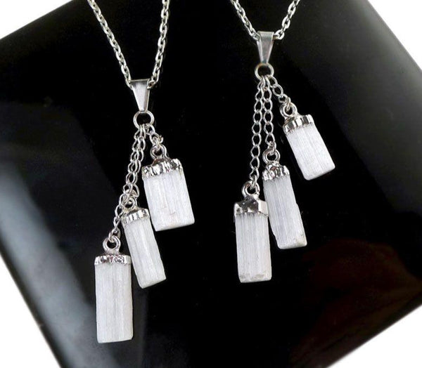 Pendant, Selenite Dangles