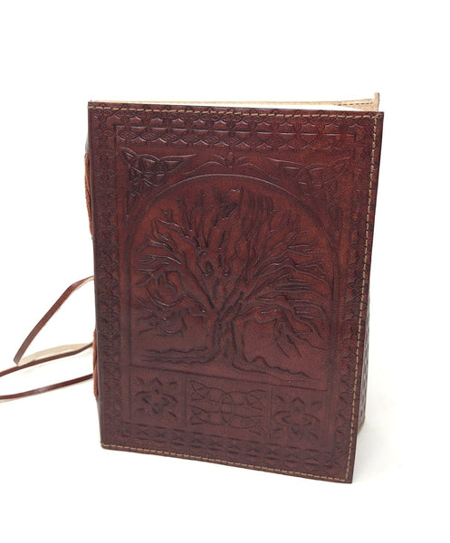 Leather Journal Pentacle moon