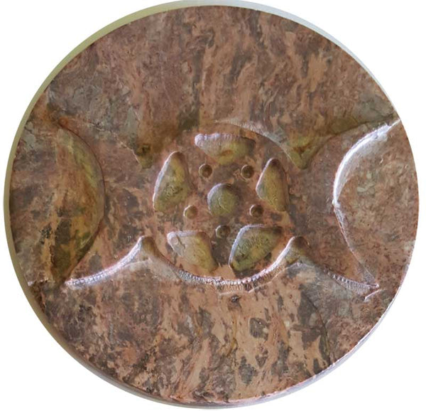 Altar Tile, Soapstone Triple Moon