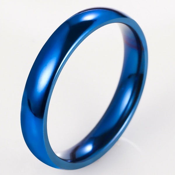 Ring, Solid Blue Titanium size 12 4mm