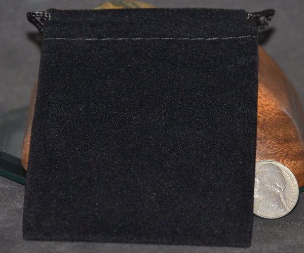 Velveteen Bags, Medium, Black 3x4