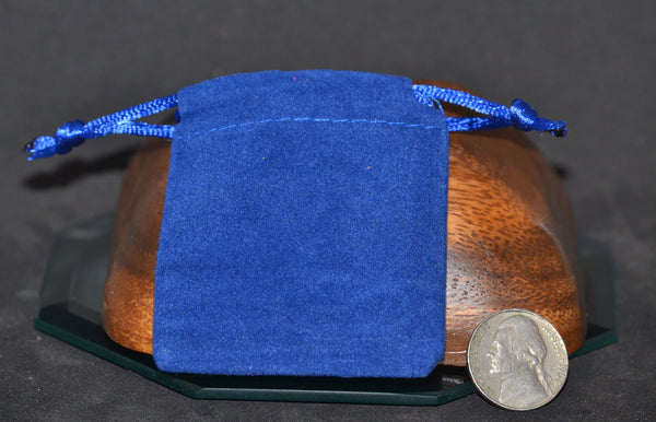 Velveteen Bags, Small, Royal Blue 2x2