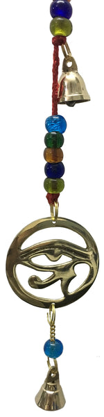 Wind Chime Eye of Horus with 3 bells