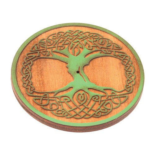 Burner, Round Wooden Tree of Life