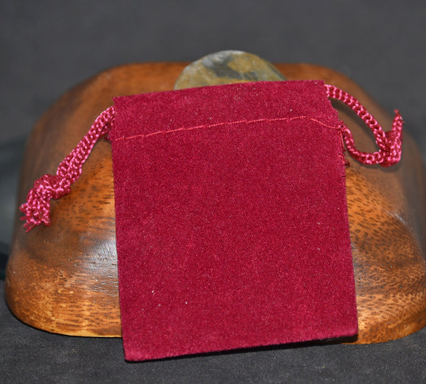 Velveteen Bags, Small, Red 2x2.5
