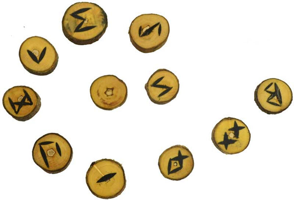 Rune Set, Poplar Wood