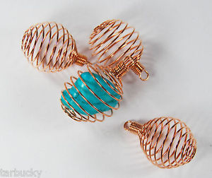 Gemstone cages, copper