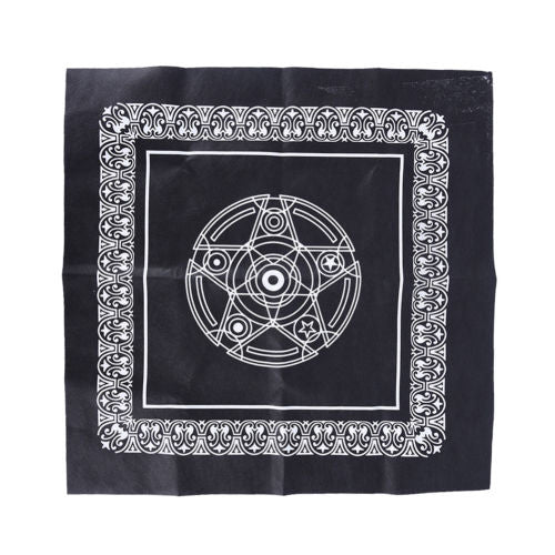 Altar Cloth Black Double Pentacle