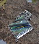 Sterling Silver Pendant, Square Mother of Pearl