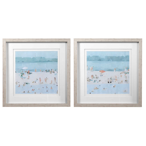Sea Glass Sandbar Framed Prints