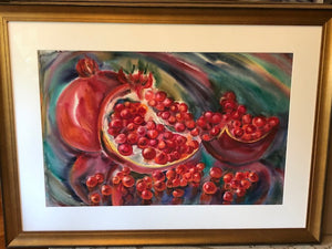 Pommegranate  34 in x 38 in Beautifully Framed