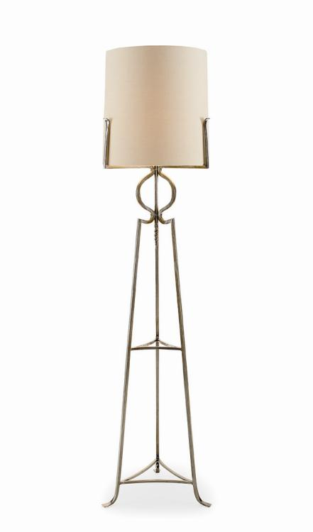 Polished Steel Floor Lamp SA8215
