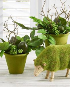 Set of 2 Mossy Sheep