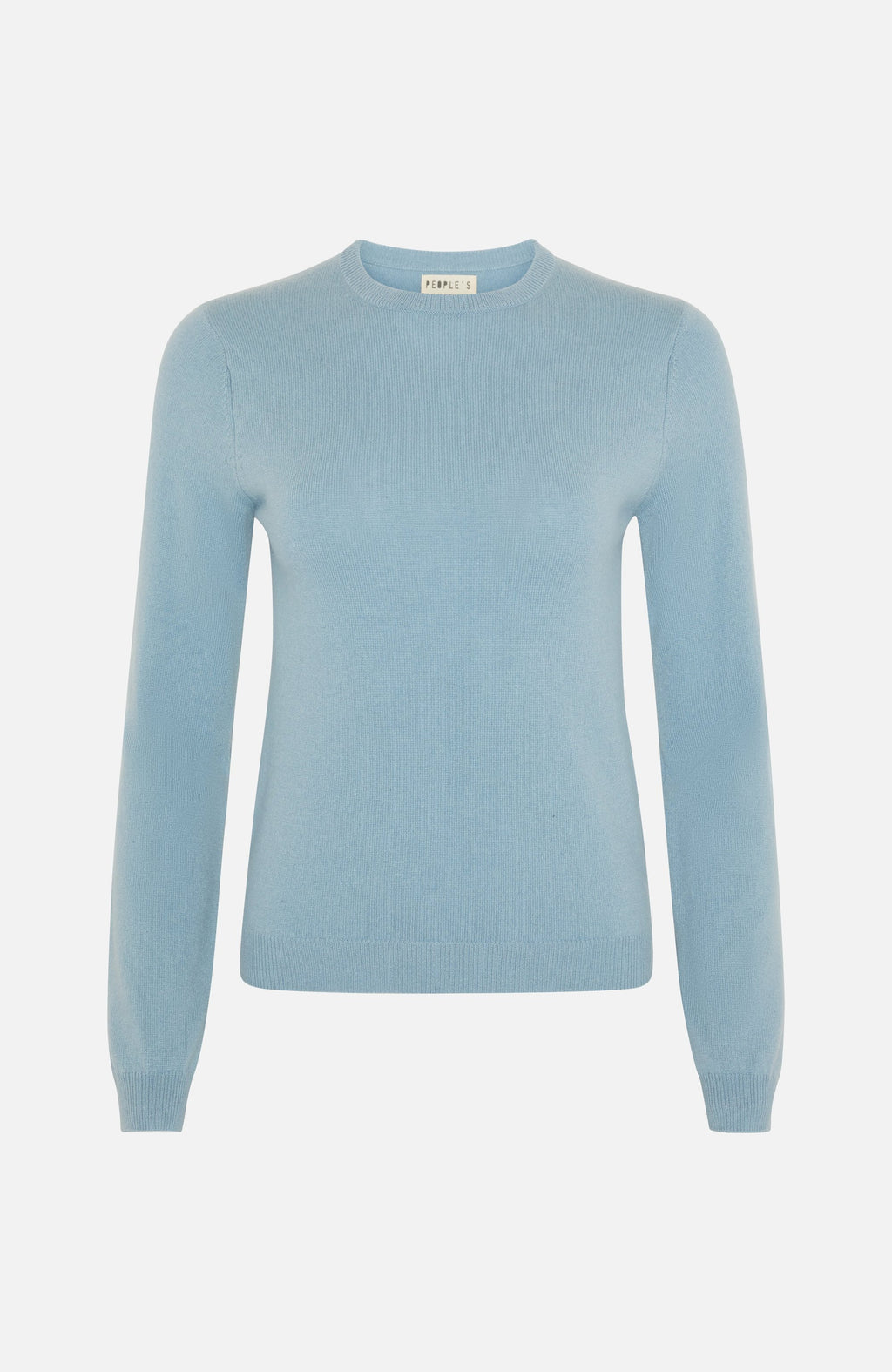 Republic Of Cashmere Round Neck Blue Sweater