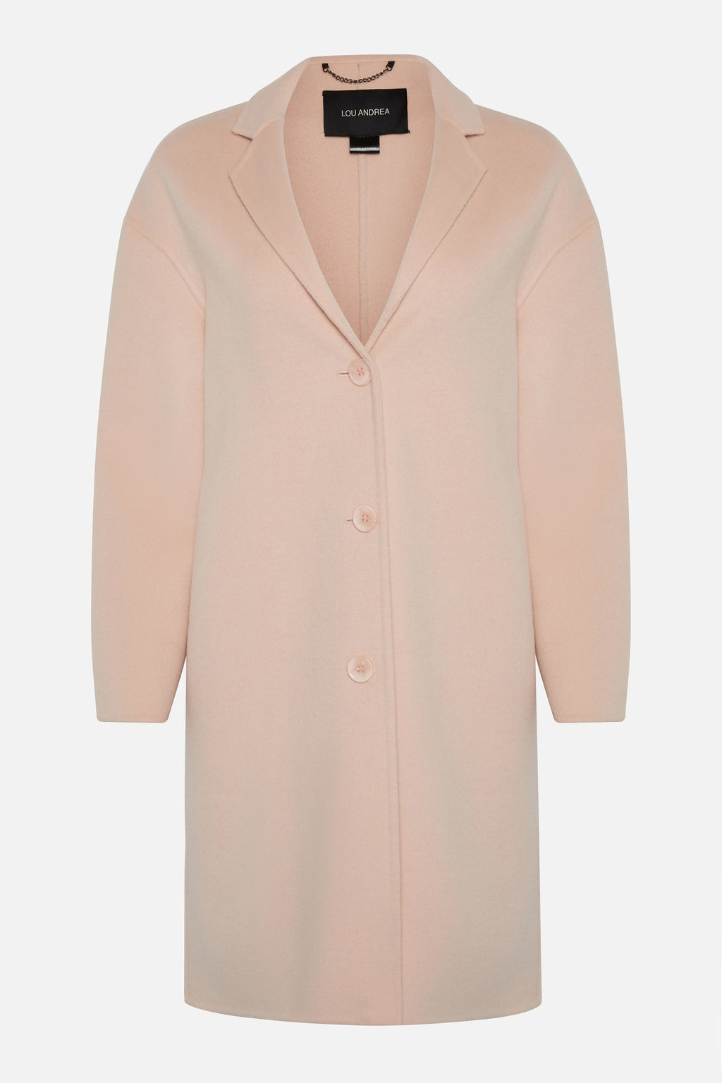 Lou Andrea Pink Wool Coat
