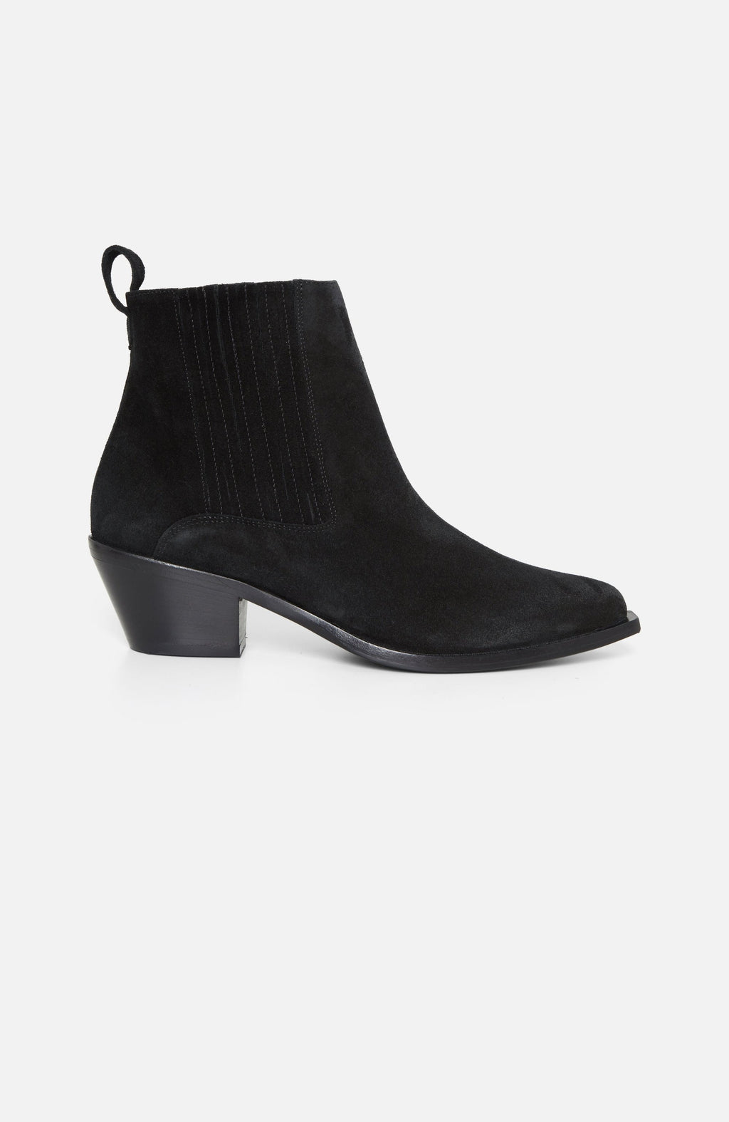 Atelier Mercadal Black Suede Ankle Boots