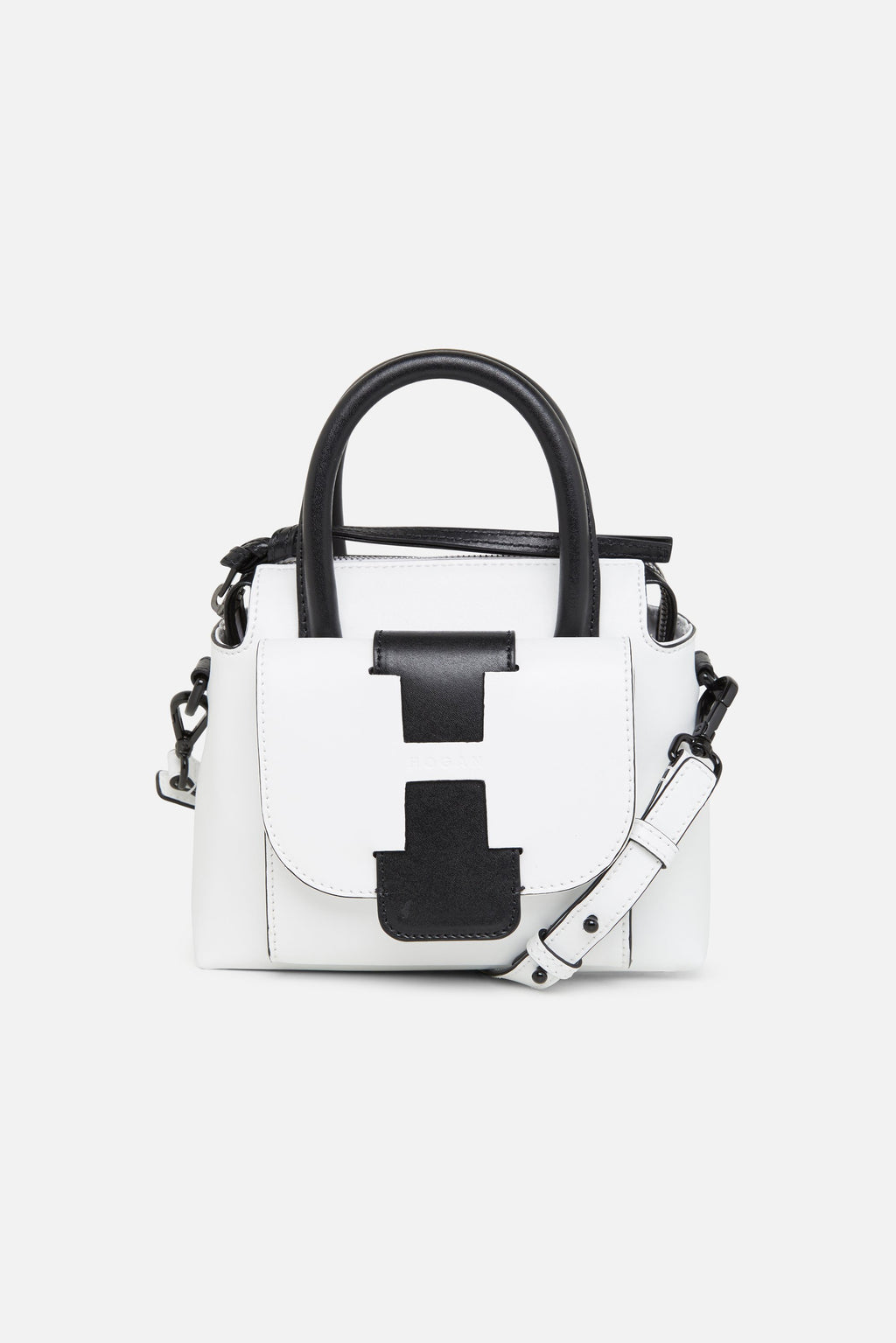 Hogan Bauletto White Leather Mini Bag