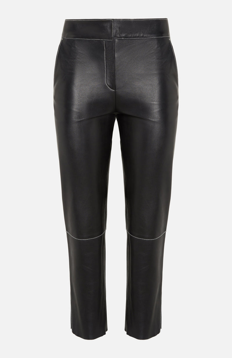 Stand Studio Black Leather Zoe Trouser