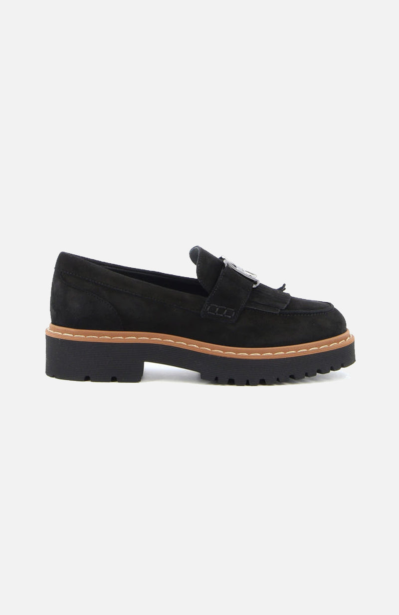 Hogan H543 Black Suede Loafers