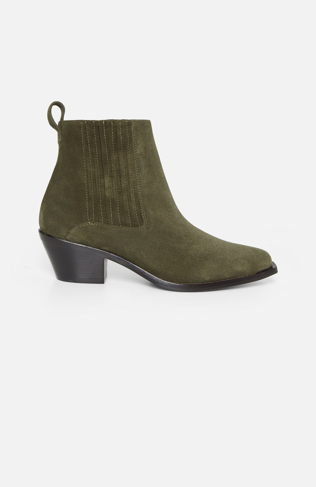 Atelier Mercadal Khaki Suede Ankle Boots
