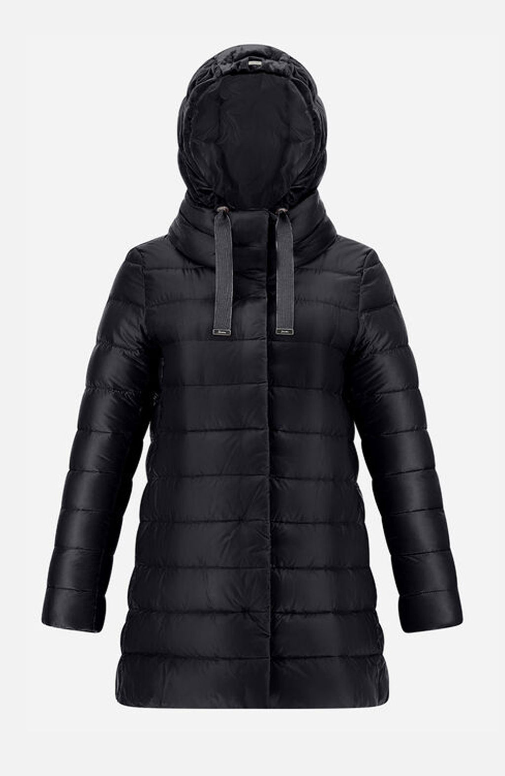 Herno Black Ultralight A-Shape Puffer Jacket