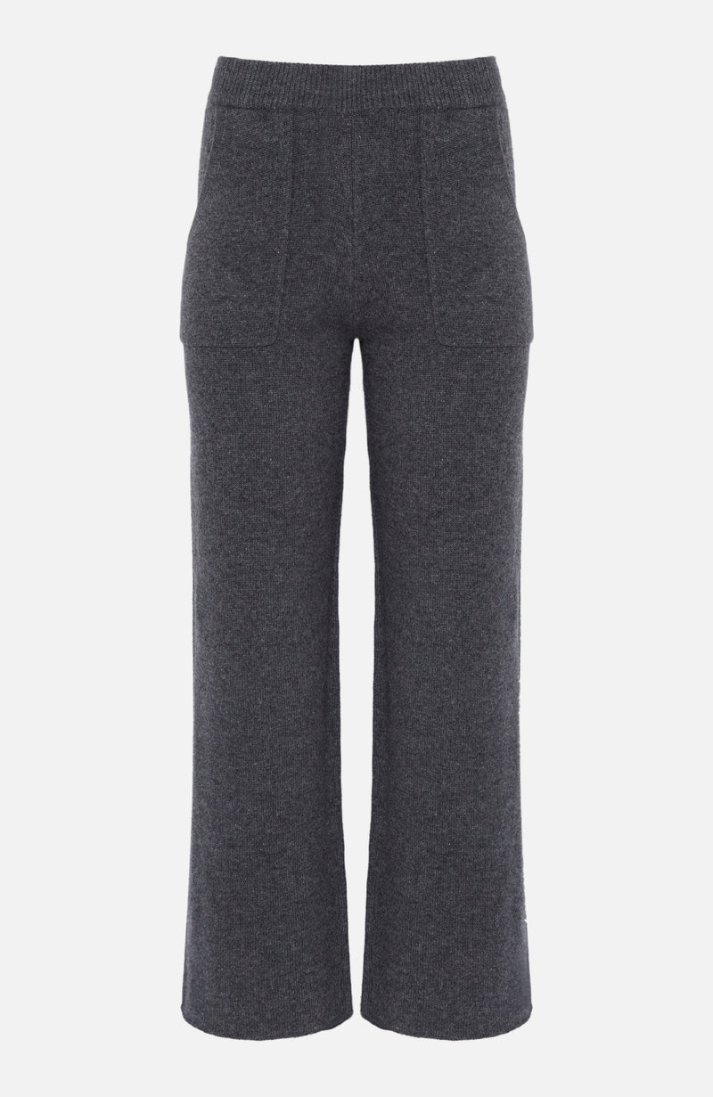 Paulie Charcoal Cashmere Track Bottoms