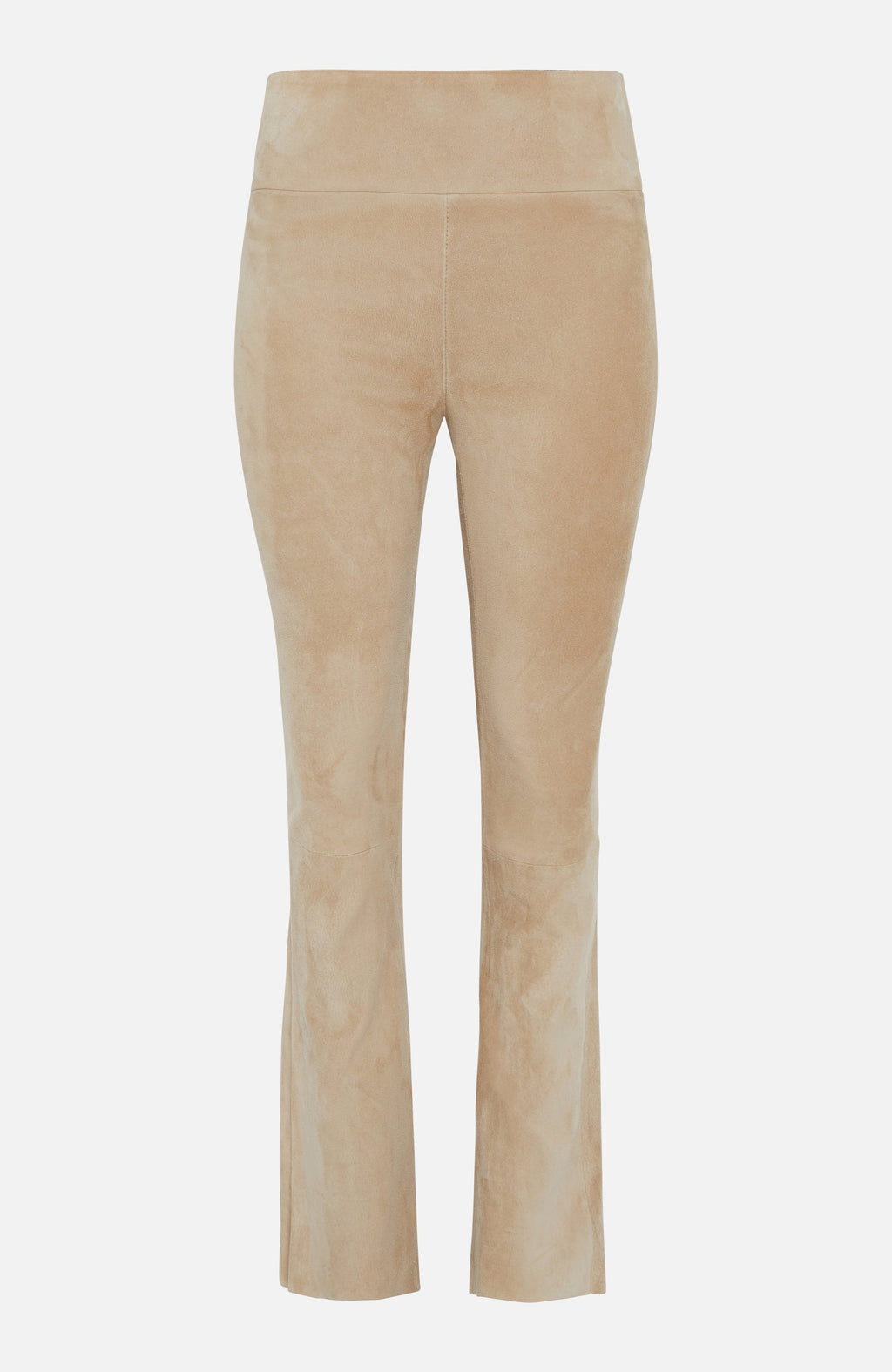 Sylvie Schimmel Ivory Suede Trousers