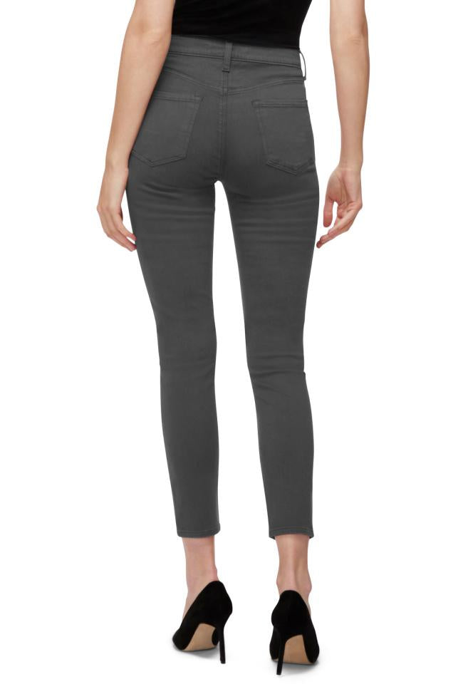 J Brand Grey Alana High Rise Crop Skinny