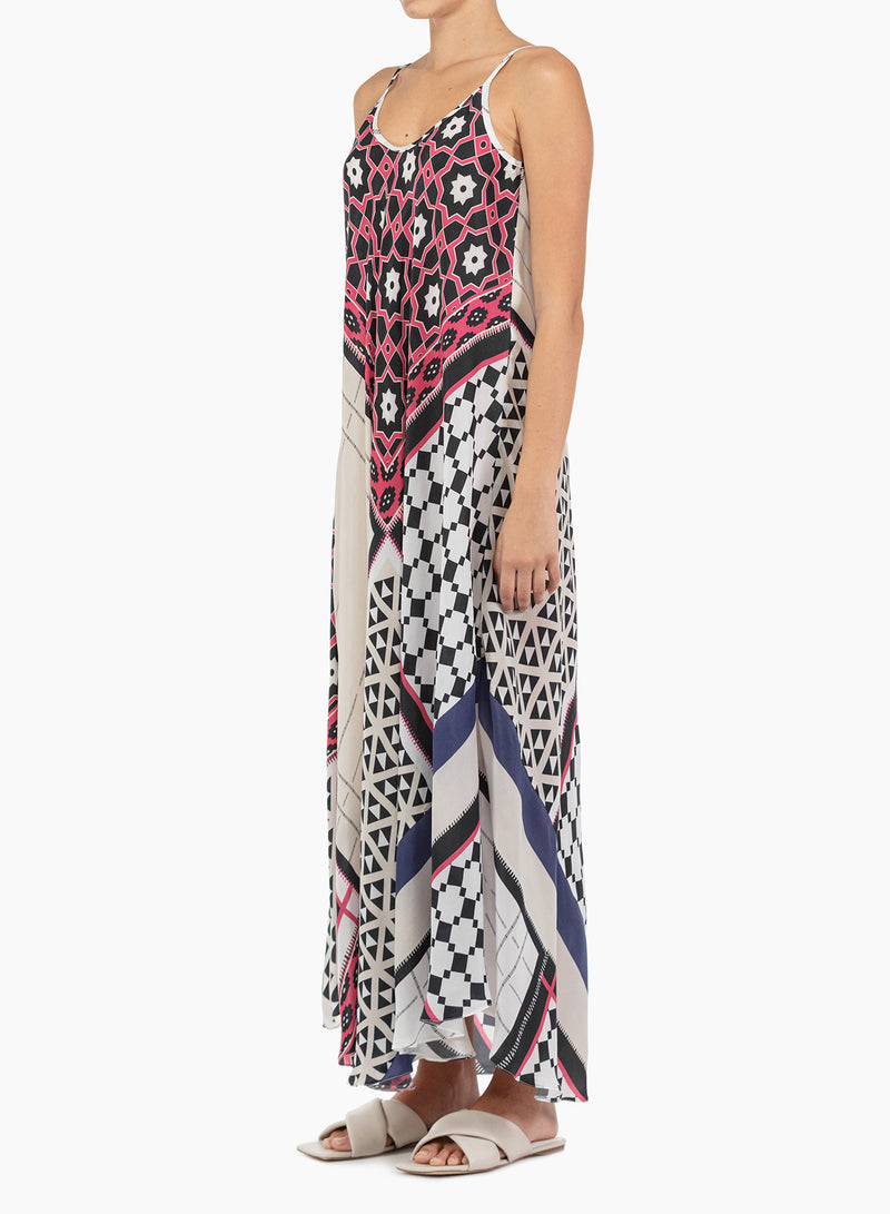 Roberto Collina Rose Print Slip Dress