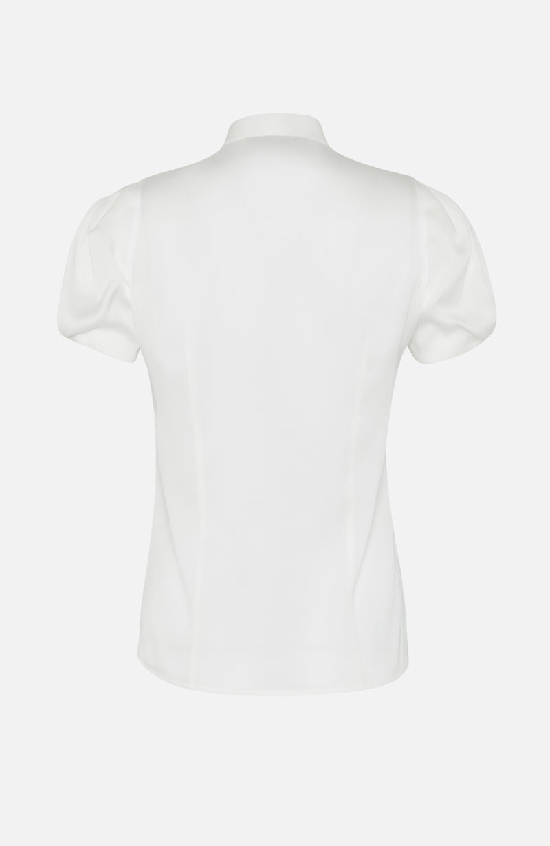 Paul Ka White Short Sleeve Silk Shirt
