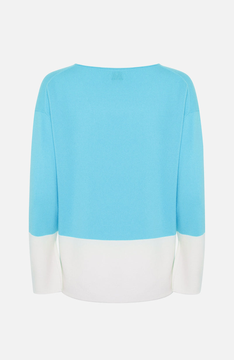 Allude Turquoise Relaxed Fit Jumper