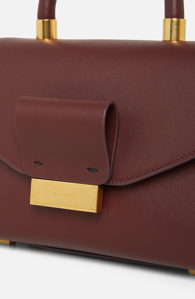 Visone Angie Bordeaux Leather Mini Bag