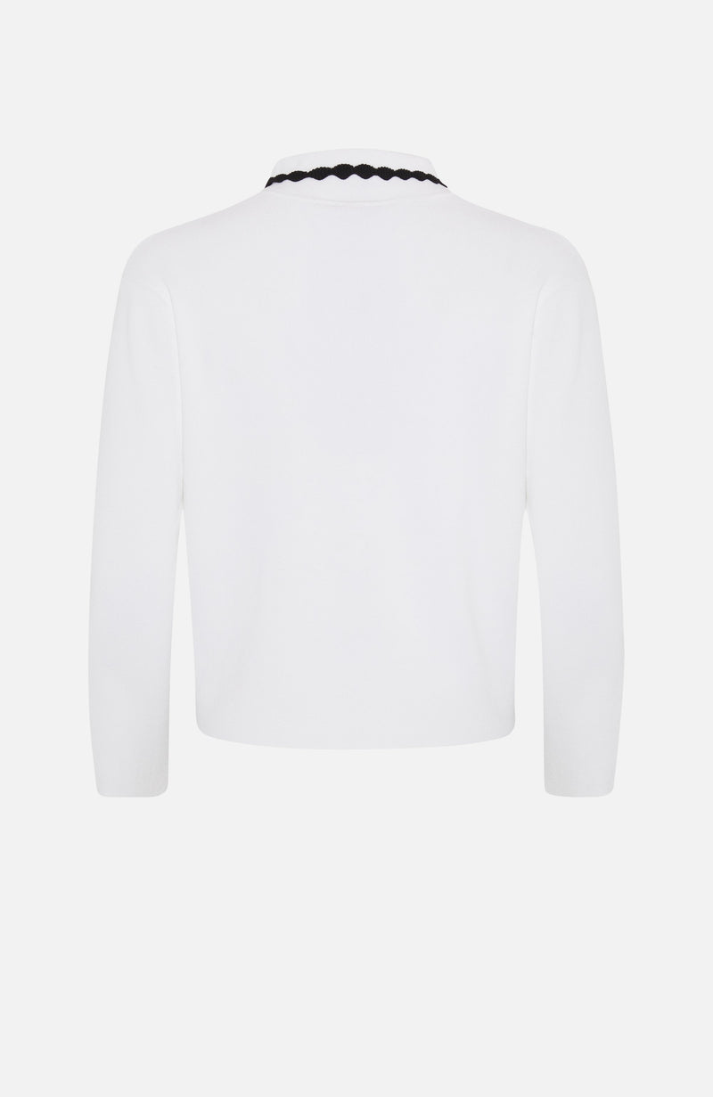 Autumn Cashmere White/Black Short Jacket
