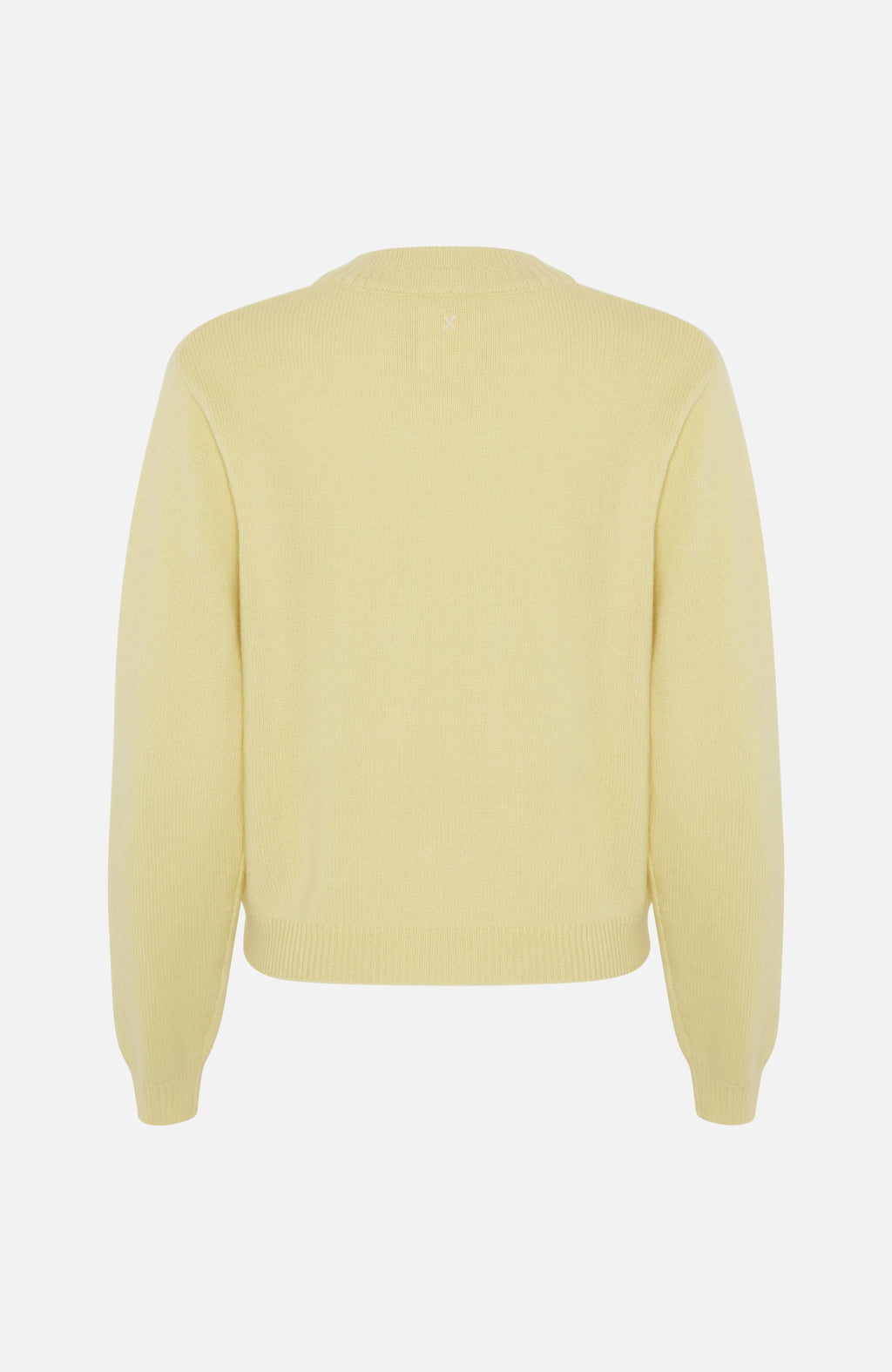 Republic Of Cashmere Crew Neck Yellow Sweater