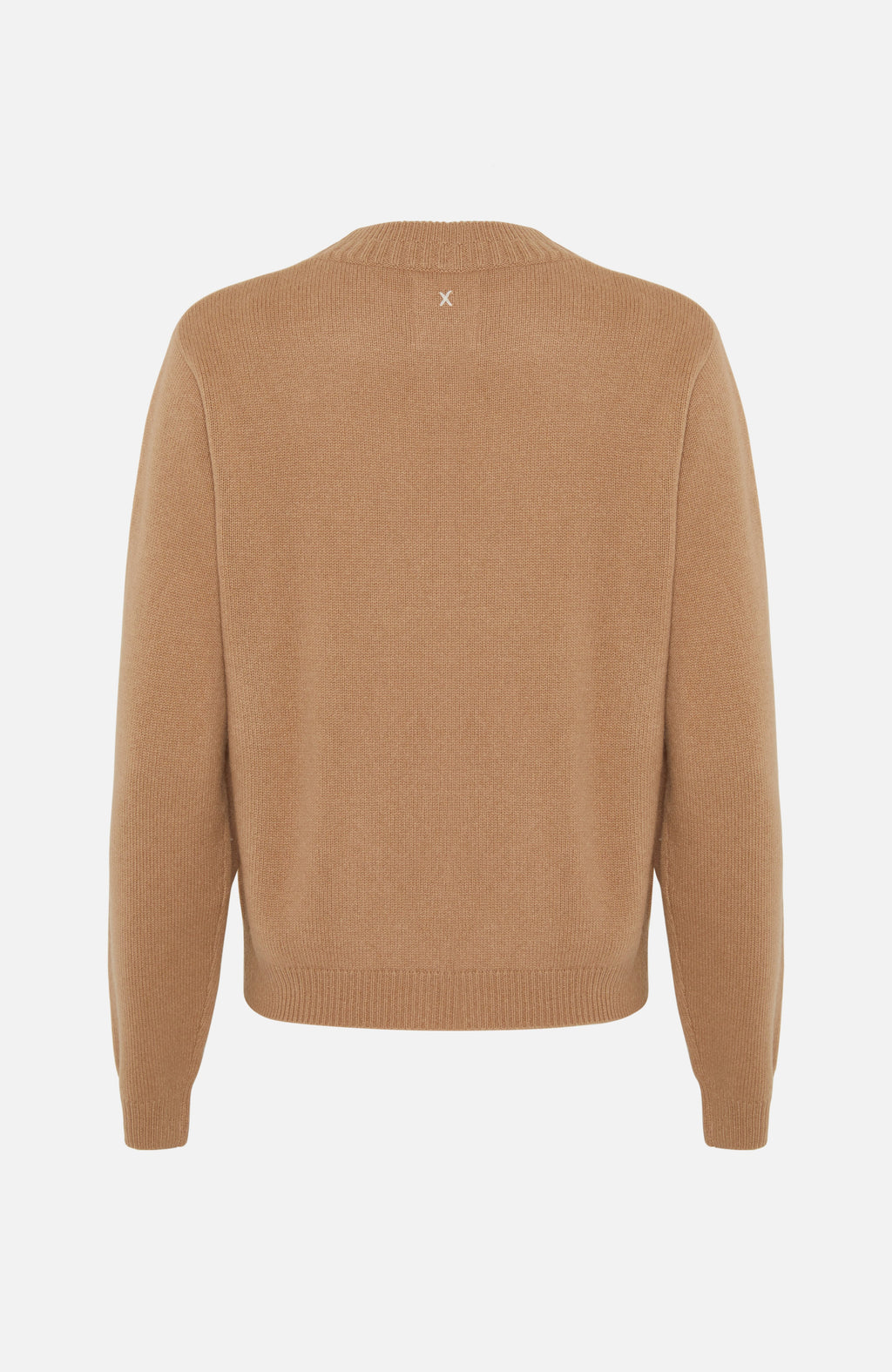 Republic Of Cashmere Crew Neck Camel Sweater