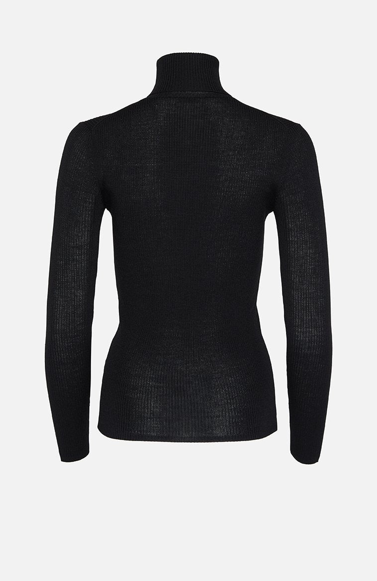 Parosh Loulou Black Roll Neck Sweater