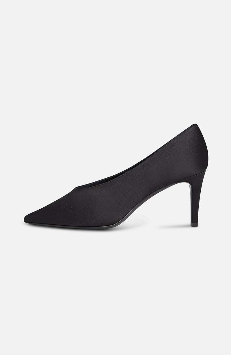Atelier Mercadal Black Satin Pumps