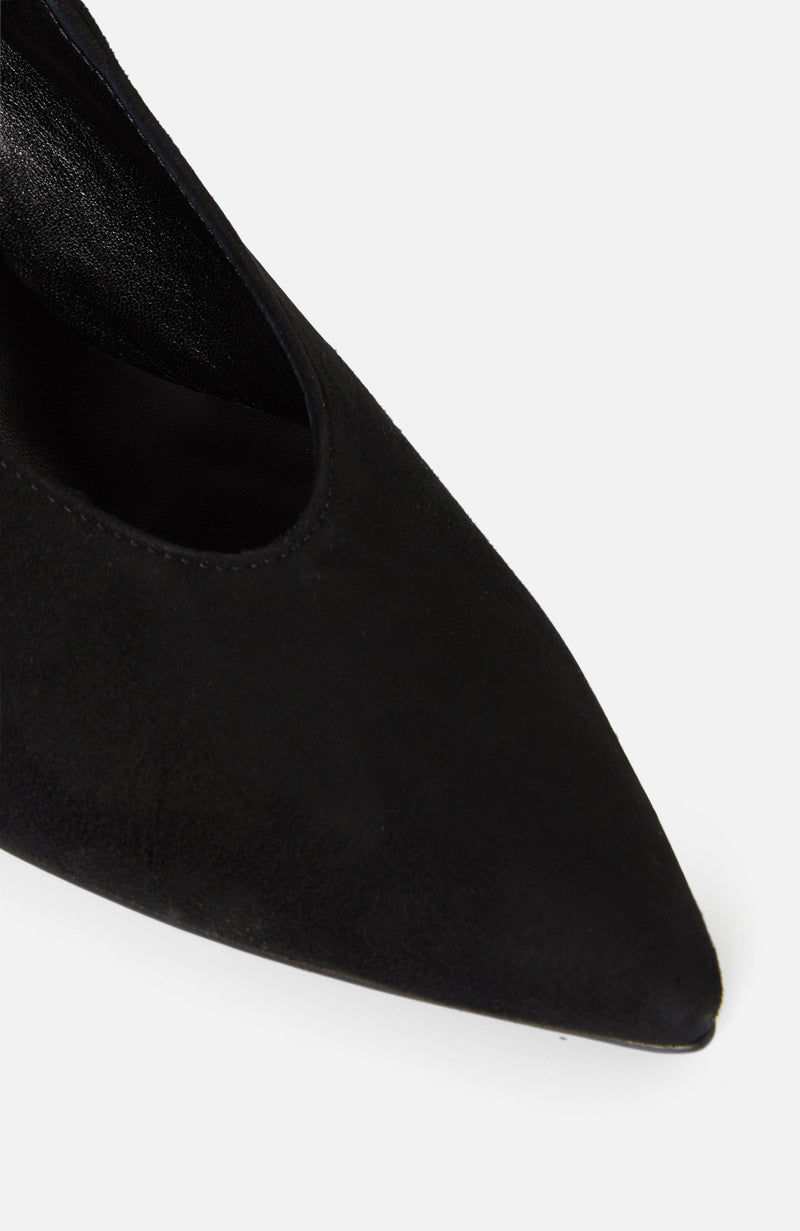 Atelier Mercadal Black Suede High Heels