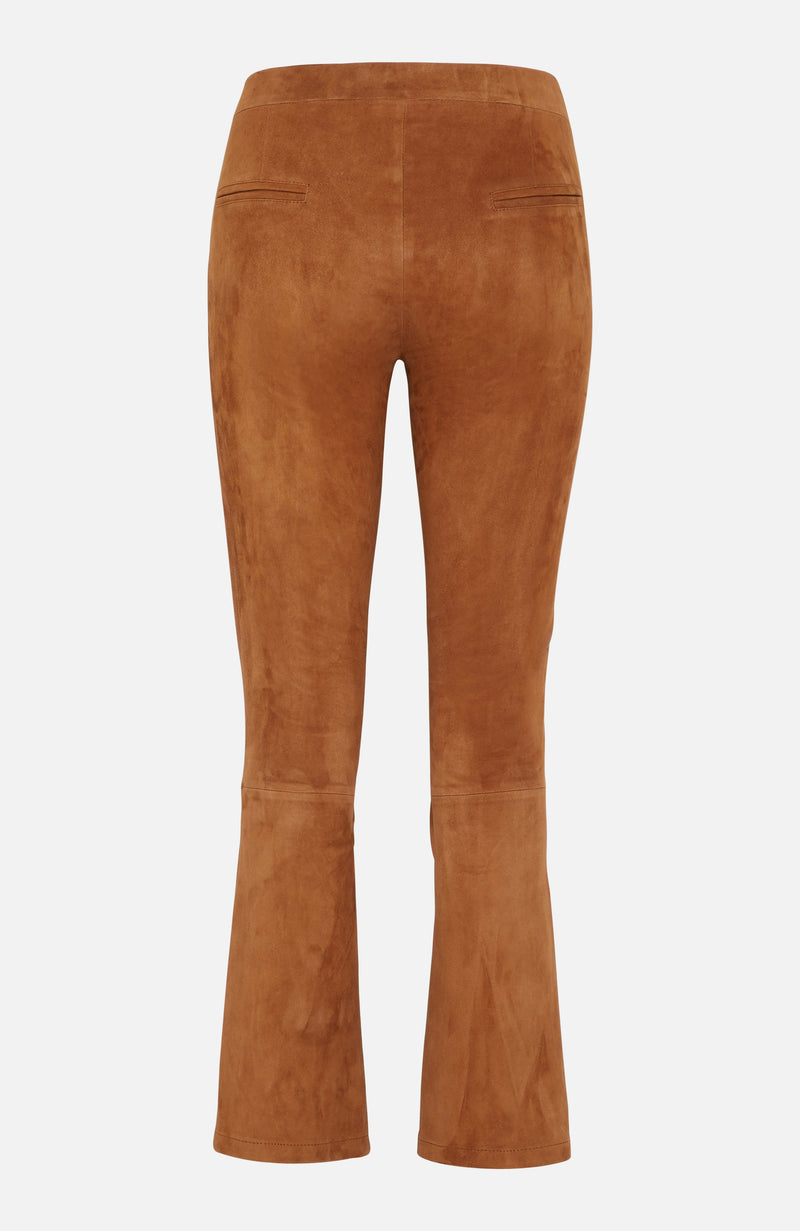 Arma Cigar Brown Cropped Suede Trousers