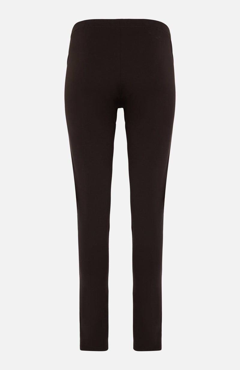 Parosh Brown Leather Leggings