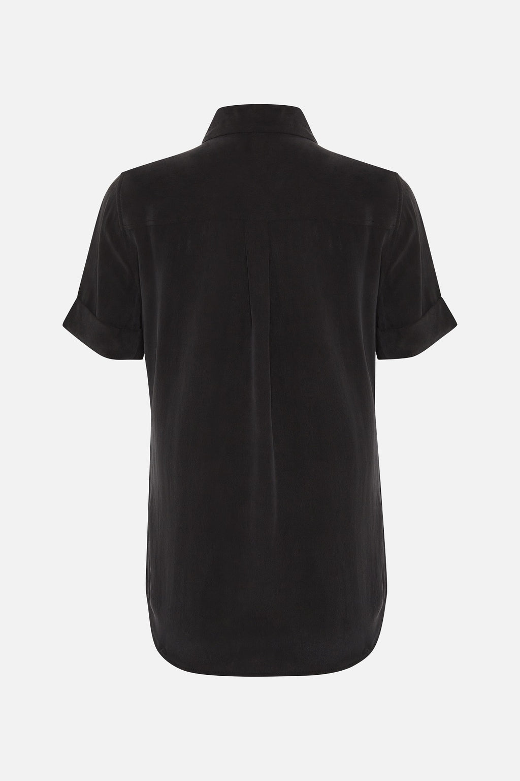 Equipment Signiture Silk Short Sleeve Shirt in Black