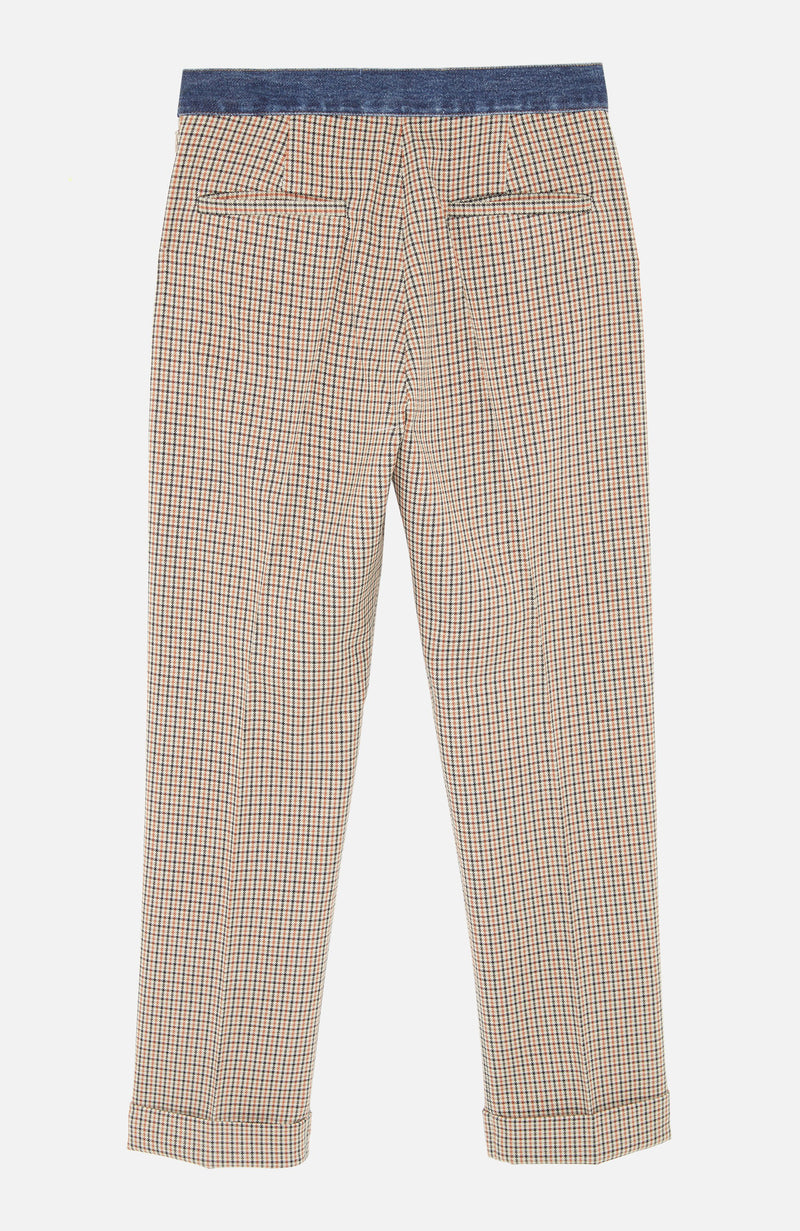 Forte Dei Marmi Couture Skinny Fit Check Trousers Brown