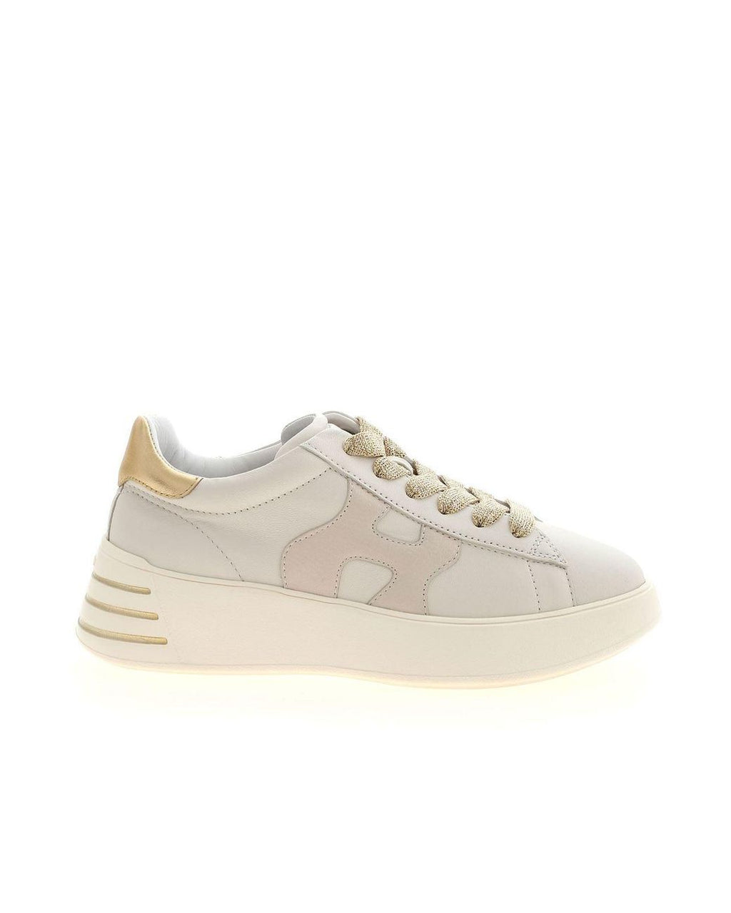 Hogan H564 Ivory/Gold Sneakers