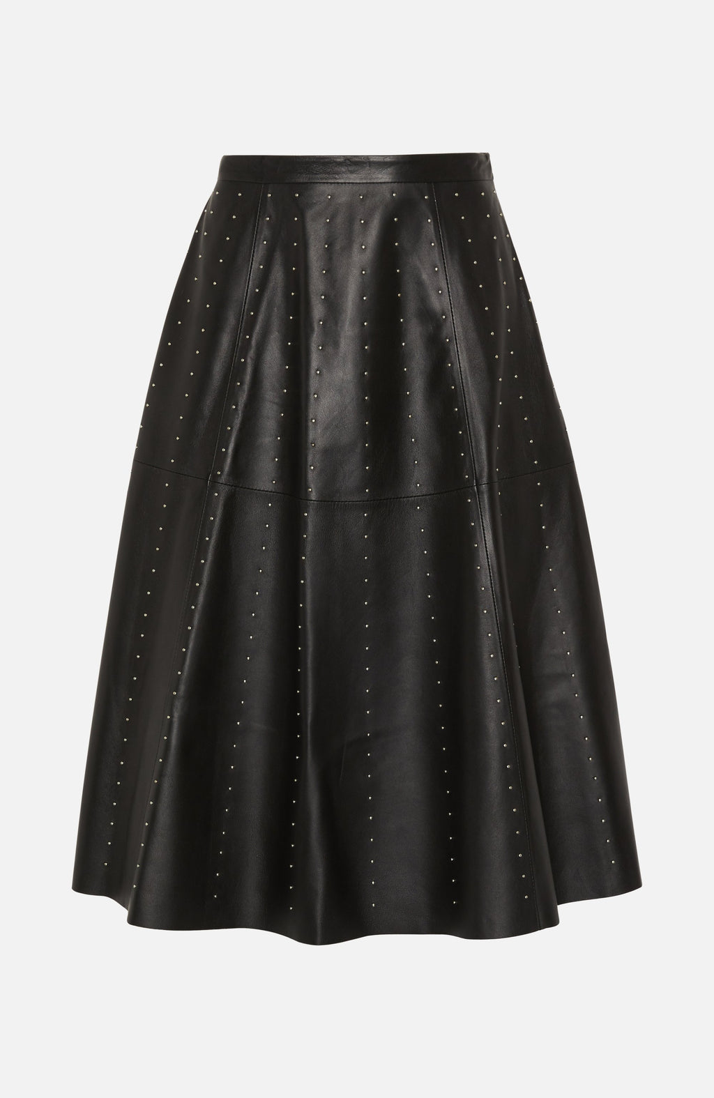 Lou Andrea Black Leather Stud Skirt