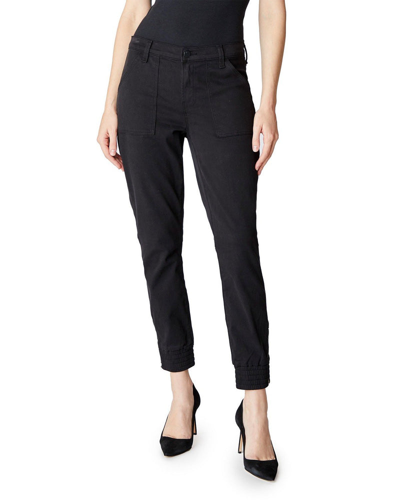 J Brand Arkin Zip Ankle Jogger in Black