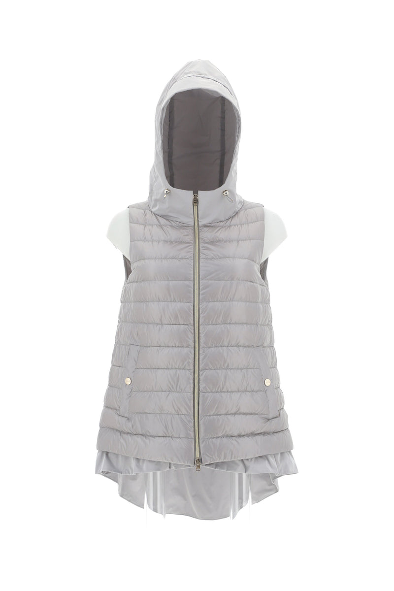 Herno Grey Hooded Gillet
