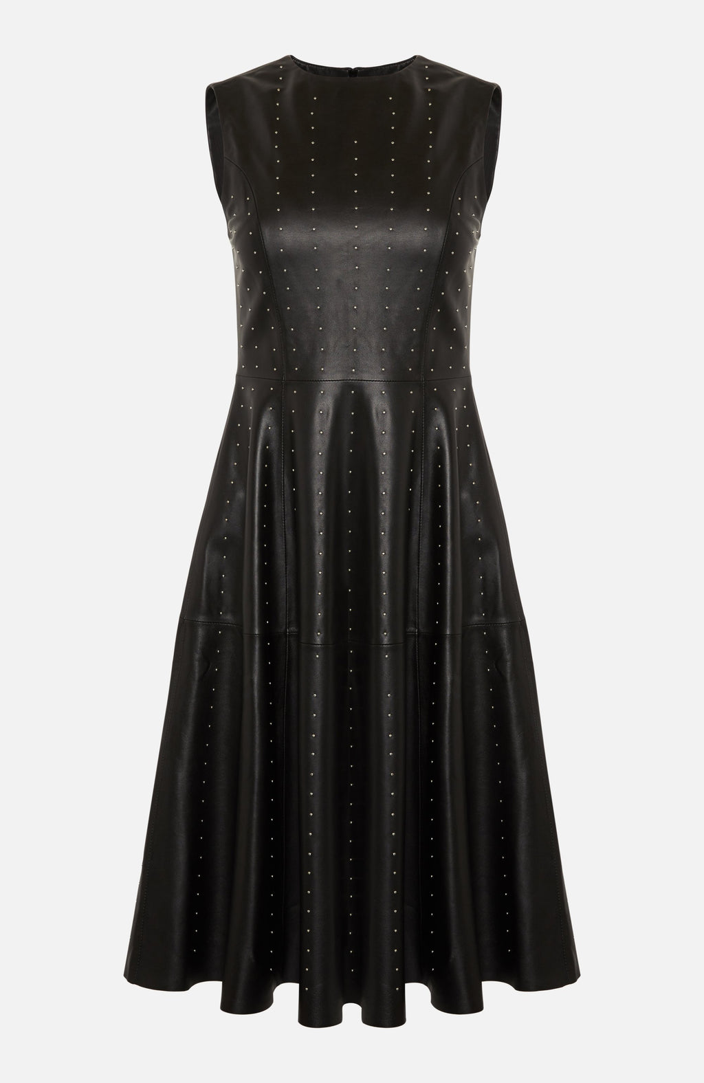 Lou Andrea Black Leather Stud Dress