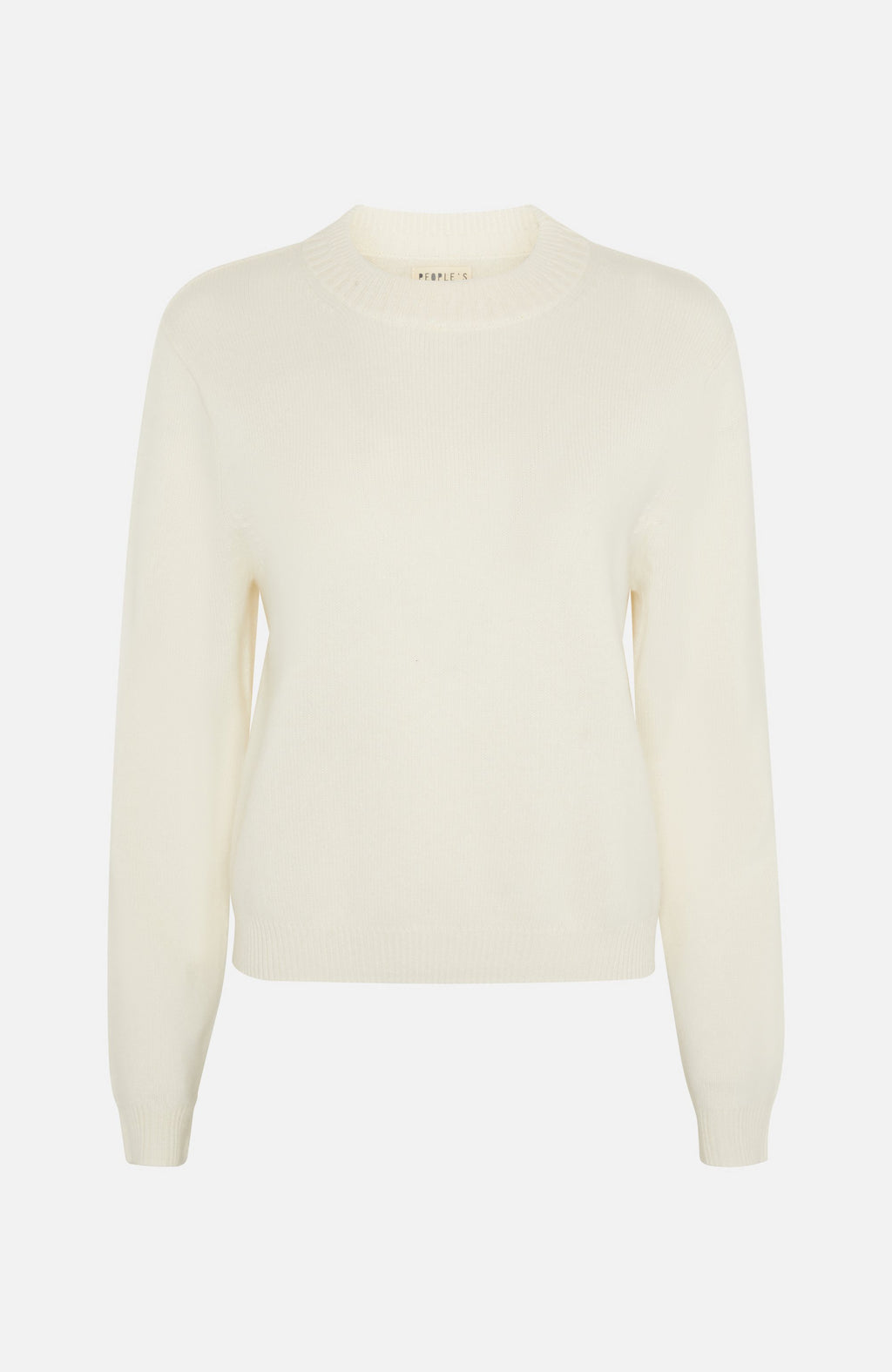 Republic Of Cashmere Crew Neck  White Sweater